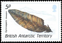 Glossopteris on stamp