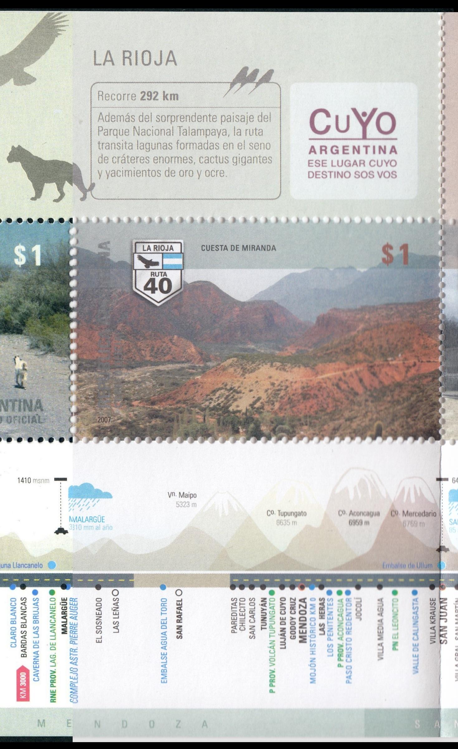 Paleophilatelie eu - paleontology stamps of Argentina