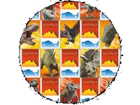 personalized dinosaur stamps of Australian post 2018