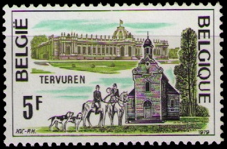 The Africa Museum on stamps of Belgium 1979