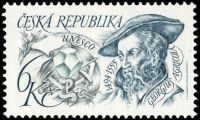 Georg Bauer/Georgius Agricola on stamp of Czech Republic 1994