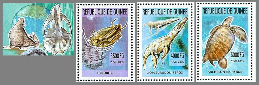 Prehistoric and Present Marine Animals on stamps of Guinea 2006