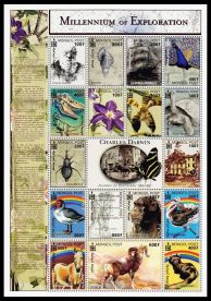 Charles Darwin on stamps of Mongolia 2000