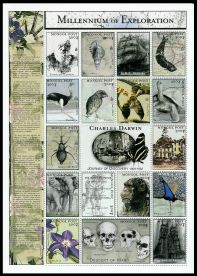 Charles Draft of Darwin on stamps of Mongolia 2000