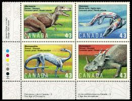 Dinosaur stamps of Canada 1993, Click for details