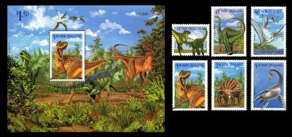 Dinosaur stamps of New Zealand 1993