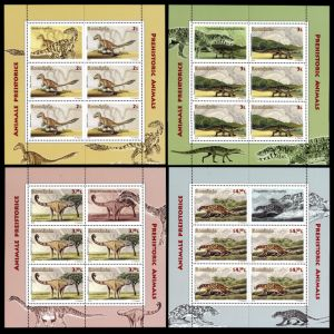 Dinosaurs and prehistoric animals of stamps of Romania 2016