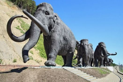 Mammoths sculpture in Khanty-Mansiysk