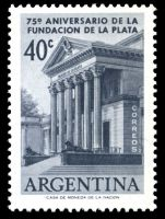 La Plata Natural Sciences Museum on stamp od Argentina 1958