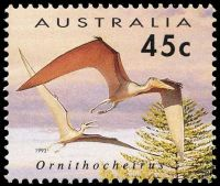 Ornithocheirus pterosaurus on stamp of Australia 1993