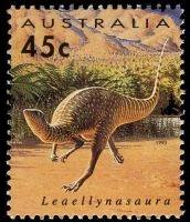 Leaellynasaura dinosaur on stamp of Australia 1993