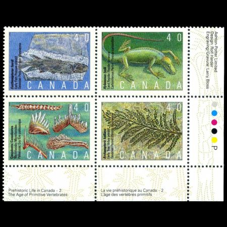 Prehistoric Life in Canada, The Age of Primitive Life on stamps of Canada 1991