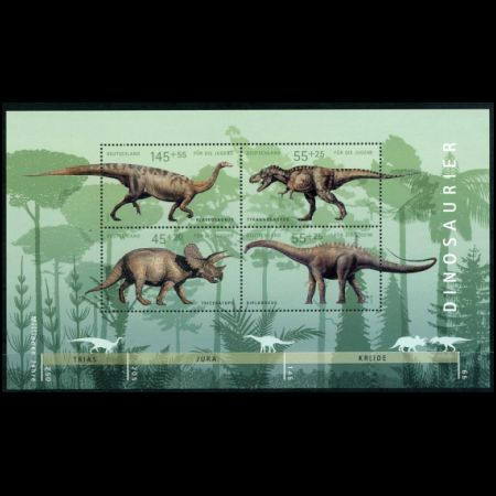 Dinosaur stamps of Germany 2008