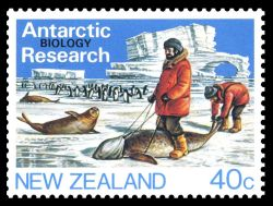 Biological Research on stamp of New Zealand 1984