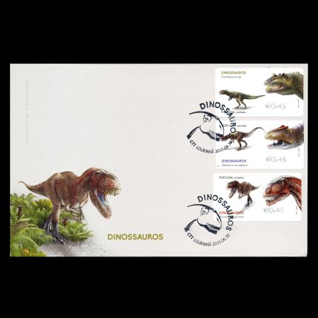 Dinosaurs on FDC of Portugal 2015