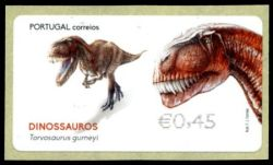 Torvosaurus on ATM stamp of Portugal 2015