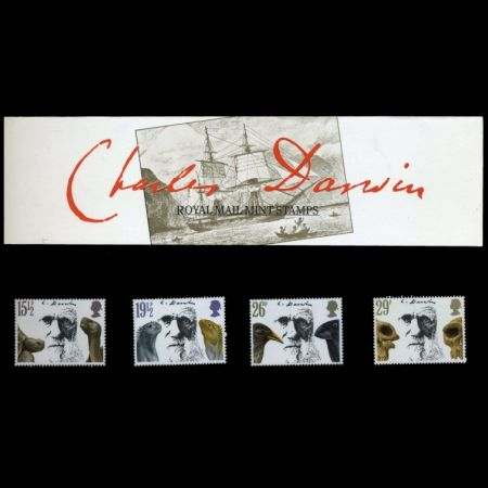 Charles Darwin on stamps of United Kingdom 1982