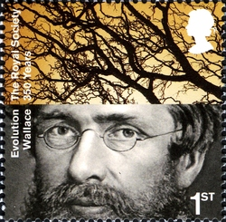 Alfred Wallace on stamp of UK 2010