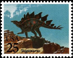 Stegosaurus on stamp of USA 1989