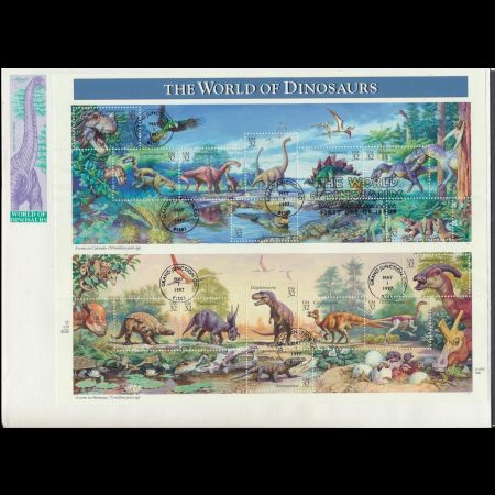 FDC of The World of Dinosaurs stamps of USA 1997
