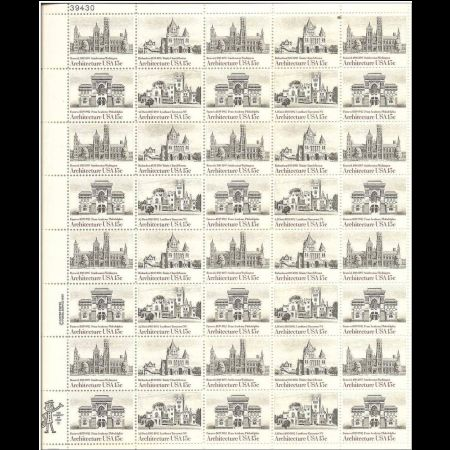 American Architecture on Souvenir Sheet of USA 1980