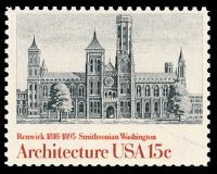 Smithsonian Institution on stamp of USA 1980