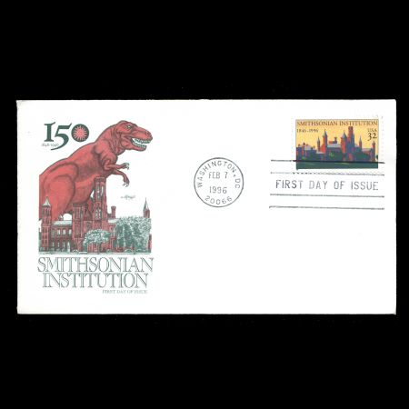 USA 1996 FDC of 150th anniversary of the founding of the Smithsonian Institution