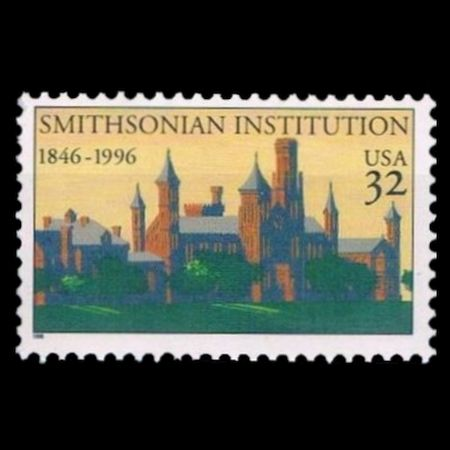 USA 1996 stamp of 150th anniversary of the founding of the Smithsonian Institution