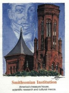 James Smithson on USA 1996 cover of 150th anniversary of the founding of the Smithsonian Institution
