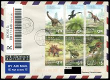 dinosaurs and prehistoric animals on circulated covers