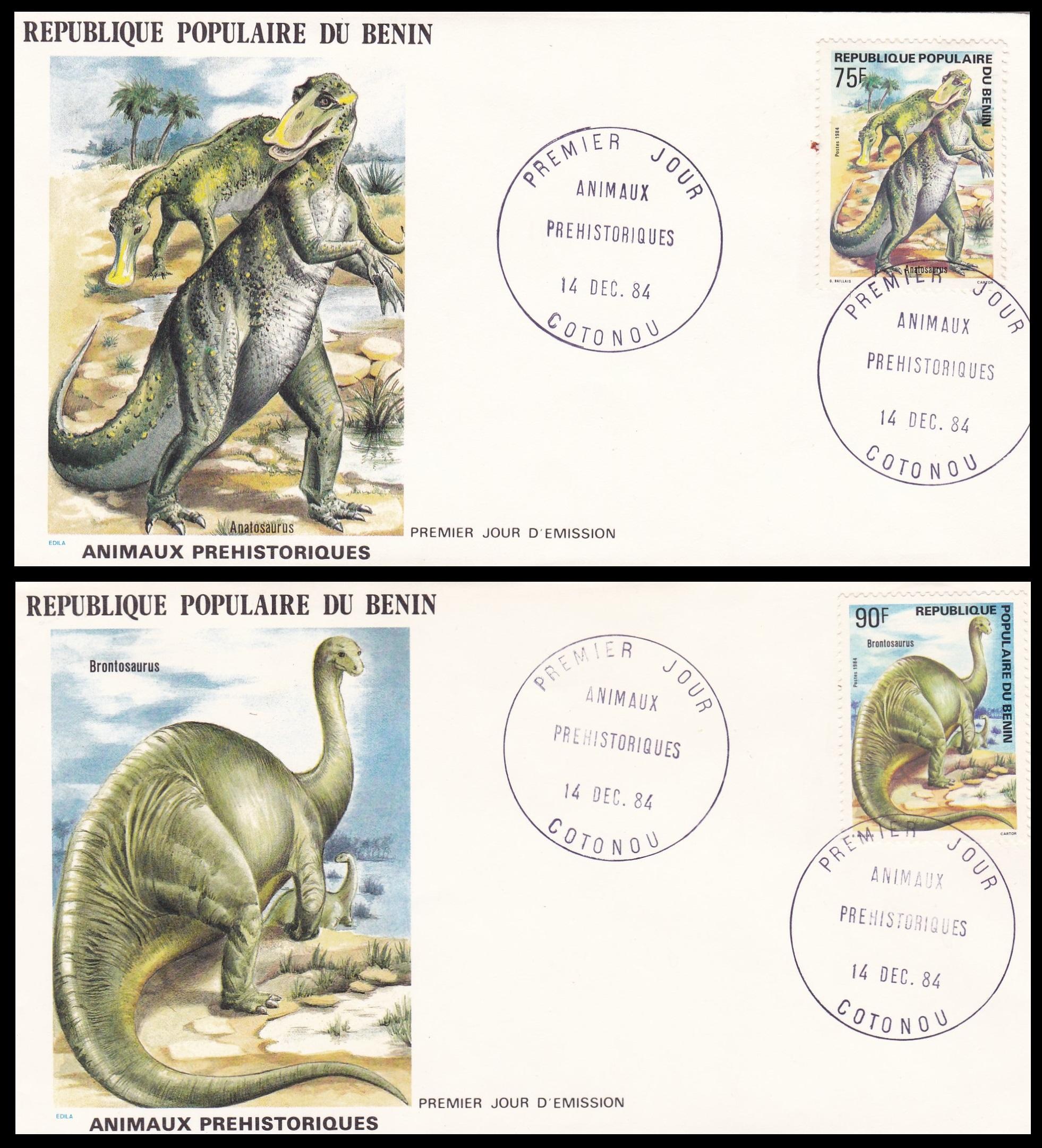 Paleophilatelie: Paläontologie und Philatelie  Benin_1984_fdc2