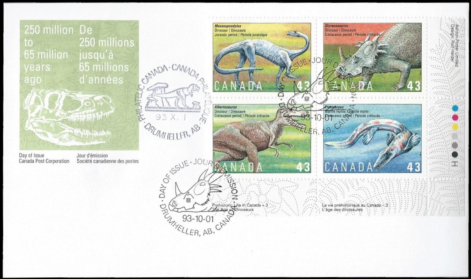 Paleophilatelie eu - paleontology stamps of Canada