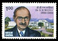 Dr. Darashaw Nosherwan Wadia on stamp of India 1984