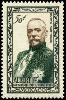 Prince Albert I of Monaco on stamp 1949
