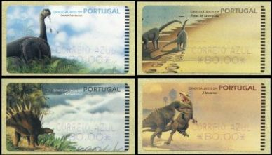 SMD FRAMA stamps with Dinosaurs, Portugal 1999