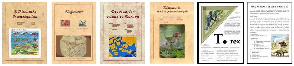 philatelic presentations of Paleontology subjects