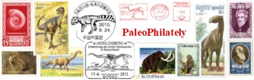 Galleries of Paleontology and Paleoanthropology related stamps and other philatelic objects