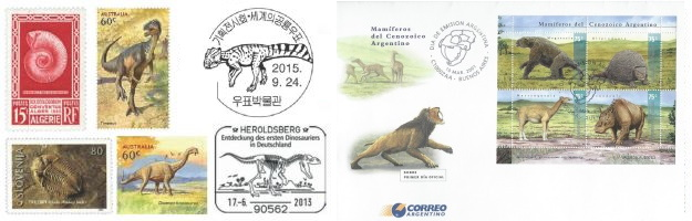 Gallery of Paleontology and Paleoanthropology related stamps, FDC, postmarks and more