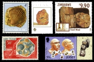 Paleontology and Paleoanthropology in Philately