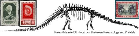 Webseite über Paläontologie und Philatelie