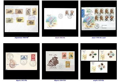 Gallery of Paleontology and Paleanthropology related FDC covers.