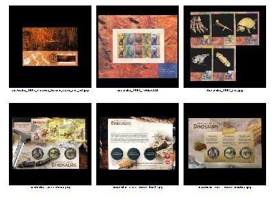 preview of some philatelic souvenirs  related to Paleontology