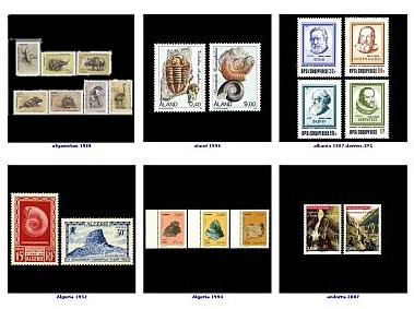 Gallery of Paleontology and Paleoanthropology related stamps