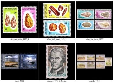 Gallery of stamps indirectly related Paleontology and Paleoanthropology sciences