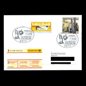 FDC of germany_2003_fdc_used3