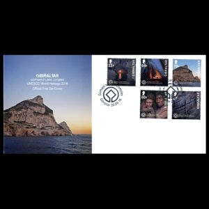 FDC of gibraltar_2016_fdc