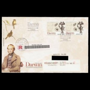 FDC of portugal_2009_darwin_fdc_used2