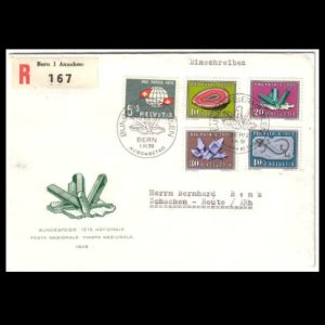 FDC of switzerland_1959_fdc