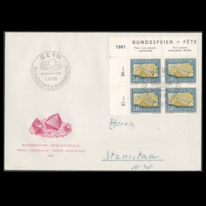 FDC of switzerland_1961_fdc_used