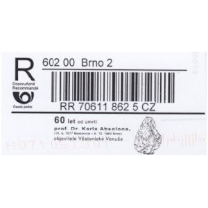 Flint tool on R-label of Czech Republic 2020